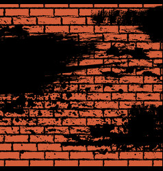 Orange brick wall vector