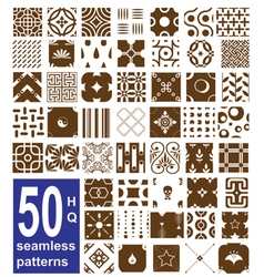 Monochrome seamless patterns collection vector