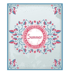 Summer poster in provence style vector