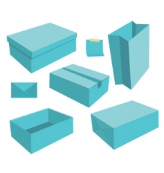 box objects vector image