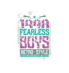 Fearless boys team emblem vector