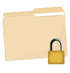 File folder and lock vector