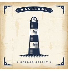 Vintage lighthouse vector
