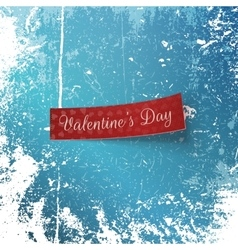 Valentines day red ribbon with hearts and text vector