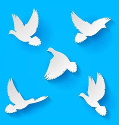 Set doves vector
