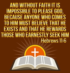 Christian motivational quote bible verse cross and vector