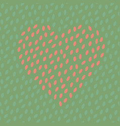 Abstract spotted seamless pattern with heart vector