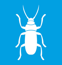 Beetle bug icon white vector