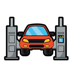 Car lift machine icon vector