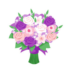Cartoon style of bridal bouquet vector
