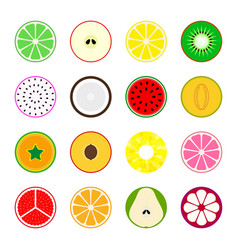 Collection of fruit icons vector