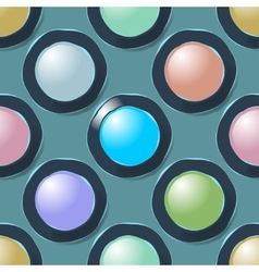 Color circles geometric seamless pattern vector image