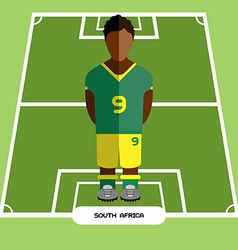 Computer game south africa football club player vector