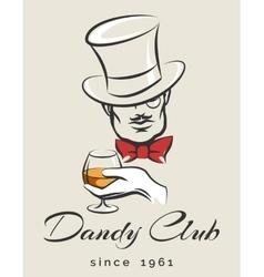 Dandy Club Emblem vector image vector image