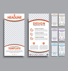 Design white flyers size of 210x99 mm vector