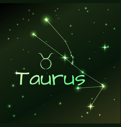 Earth symbol of taurus zodiac sign horoscope vector