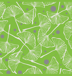Gingko biloba seamless background pattern vector