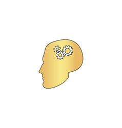 Head gears computer symbol vector