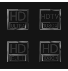 High definition signs vector image vector image