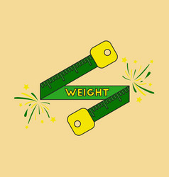 Icon in flat design weight loss logo vector