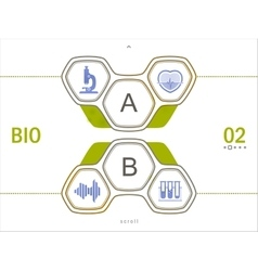 Icon set of science signs flat design vector