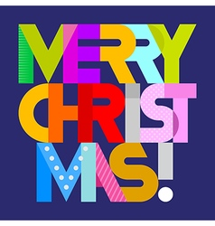 Merry Christmas on blue vector image