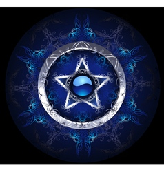 mystic blue star vector image vector image