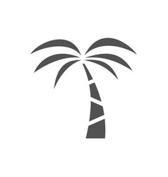 palm tree icon on a white background vector image vector image