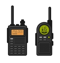 Radio Set Transceiver with Antenna Receiver vector image vector image