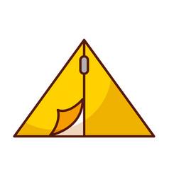 shadow c&ing tent cartoon vector image  sc 1 st  VectorStock & Cute camping tent cartoon Royalty Free Vector Image