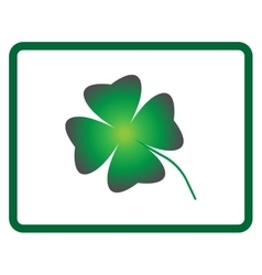 Sign four leaf clover 605 vector image