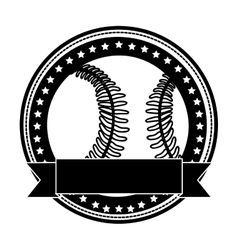 Sober baseball emblem or label icon image vector