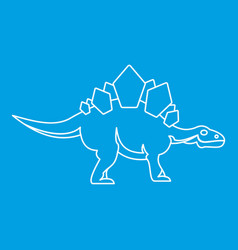 stegosaurus icon outline style vector image vector image