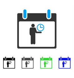 Time manager calendar day flat icon vector