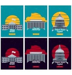 USA tourist destination posters vector image