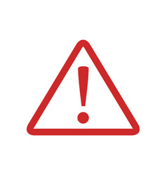 warning sign icon simple vector image