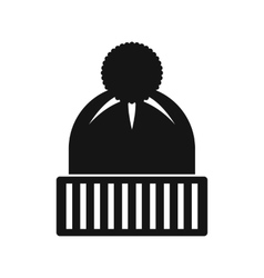Knitted hat icon simple style vector