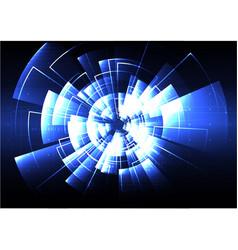 technological radar light effect background vector image
