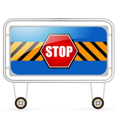 Traffic barrier stop sign on a white background vector