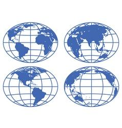 Globe maps vector image