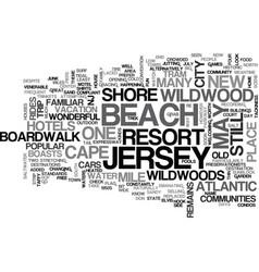 Wonderful wildwood new jersey text word cloud vector