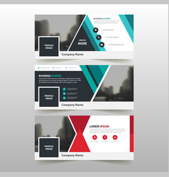 Red green corporate business banner template vector