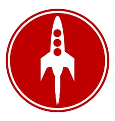 Starting rocket button vector