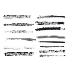 Engraving brushes set vector