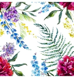 Watercolor floral pattern vector image