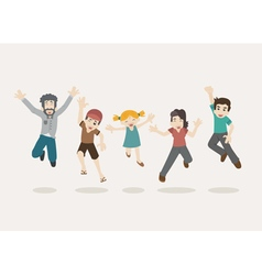 Family jumping  eps10 format vector
