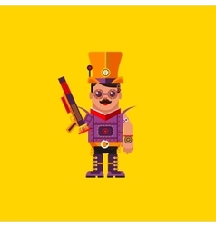 a steampunk character for halloween vector image