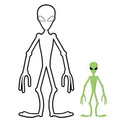 Alien coloring book humanoid space alien vector