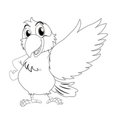 Animal outline for parrot vector