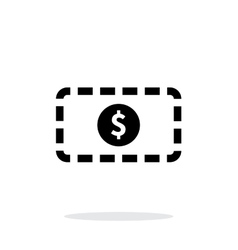 Banknote simple icon on white background vector image vector image